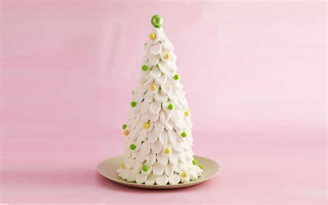 a fun festive christmas tree cake