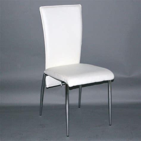 chaise de cuisine blanche chaise de cuisine simili cuir