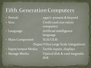 Generation of Computers - ppt video online download