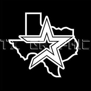 houston astros decal sticker texas state map lone star car truck ebay