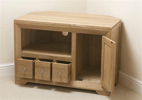 small corner tv cabinet bevel natural solid oak small corner tv cabinet oak