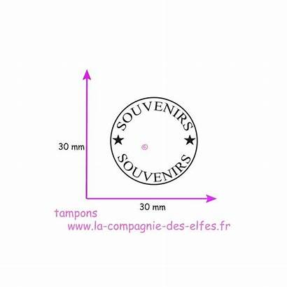 Cachet Tampon Souvenirs Nm Elfes Compagnie Scrapbooking