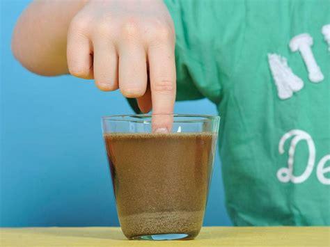 Experiment für Kinder  Experimente mit Wasser Trockenes