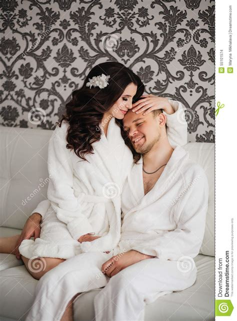 beautiful wedding husband wife lovers man woman stock