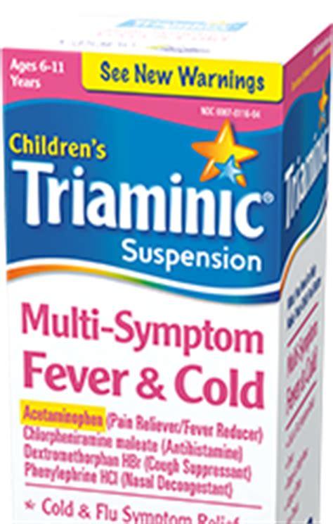 multi symptom fever cold childrens triaminic syrup