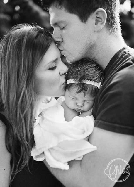 With Mom and Dad - 29 Wonderful Newborn Photo Poses You