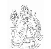 Printable Fancy Princess Coloring Page  Coloringpagebookcom