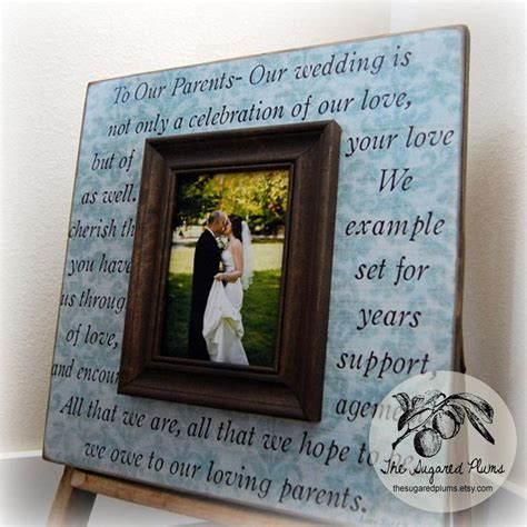 parents gift personalized picture frame wedding gift