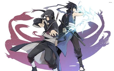Anime Sasuke Wallpaper - itachi uchiha and sasuke uchiha in wallpapers anime