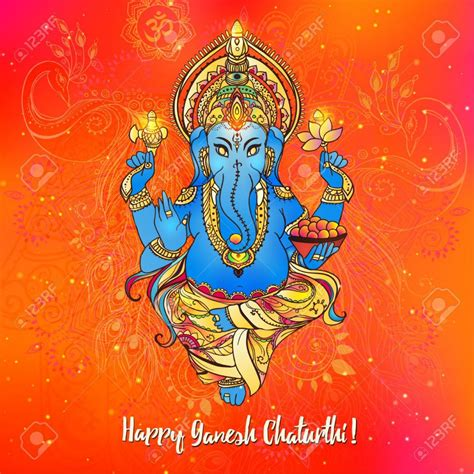 design  ganesh chaturthi invitation card design card