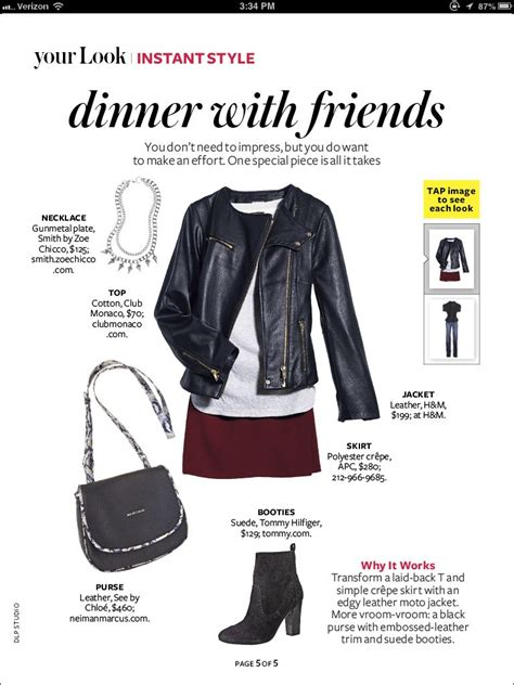 Leather Jacket Burgundy Skirt Instyle Magazine
