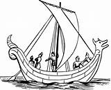 Boat Drawing Coloring Pages Ship Sailing Sail Sea Viking Anglo Ocean Sailboat Saxon Paddle Ships Draw Drawings Children Clipartmag Clipart sketch template