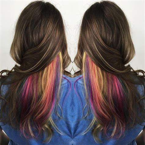gorgeous peekaboo highlights  enhance  hair