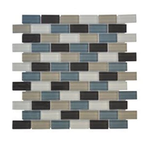 Jeffrey Court Mosaic Tile Home Depot by Jeffrey Court Shoreline Brick 12 In X 12 In X 8 Mm Glass