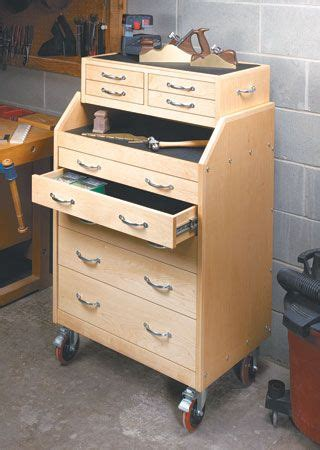 slant front tool cart woodsmith plans store  shop
