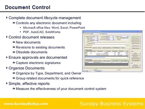 training  document control solution  iso  compliance