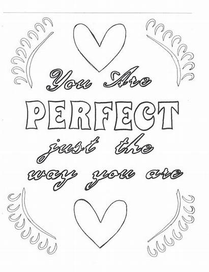 Perfect Way Coloring Pages Yourself Colouring Affirmation