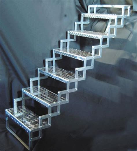 fold up staircase solutions to stairs part 2 folding quot scissor quot steps core77