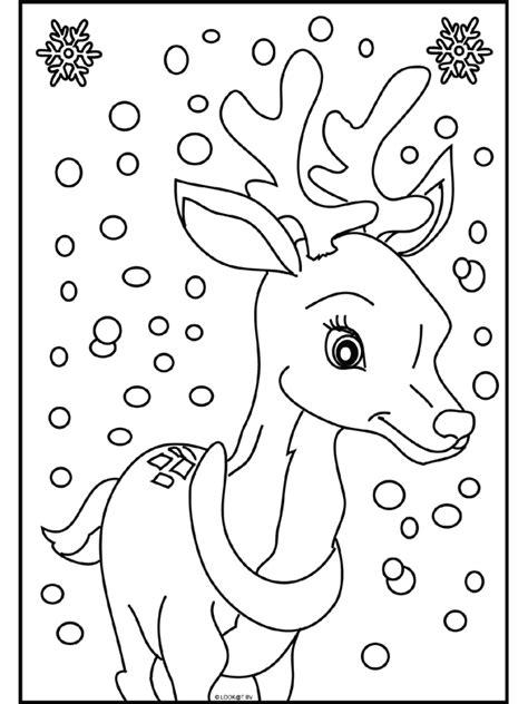Kleurplaat Rendier Rudolf by Kleurplaat Rendier In De Sneeuw Kleurplaten Nl