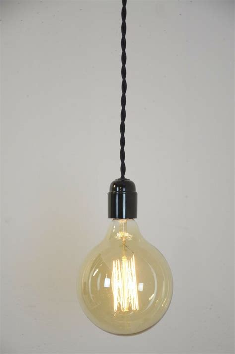 Pendant Light Black Twisted Cloth Covered Cord Wire