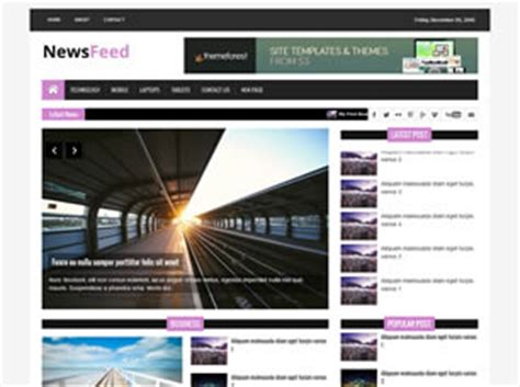 Get Newsfeed Business Html Template Designssave