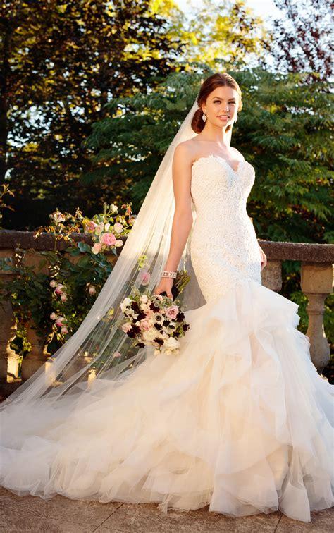 Rococo Beaded Wedding Dress With Textured Skirt Essense
