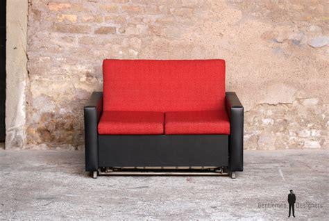 canapé alsace canapé convertible lit vintage tissu et skai noir