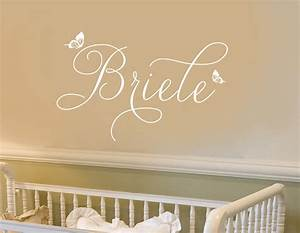 Wall decal personalized little girls name by bushcreative for Wall decals etsy