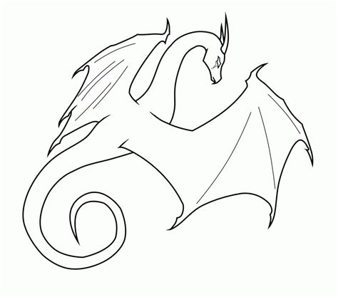 dragon outline drawing coloring home