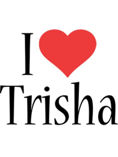 trisha logo  logo generator  love love heart