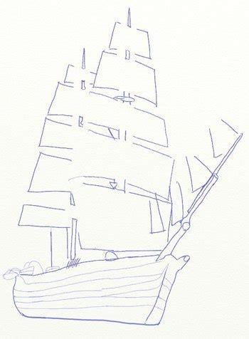 segelschiff zeichnen anleitung dekoking