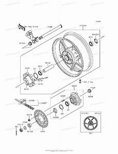 Kawasaki Motorcycle 2013 Oem Parts Diagram For Rear Wheel