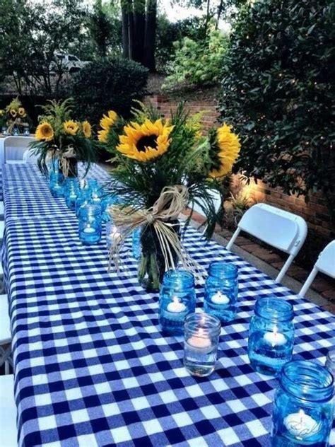 blue  white table romantic summer date ideas