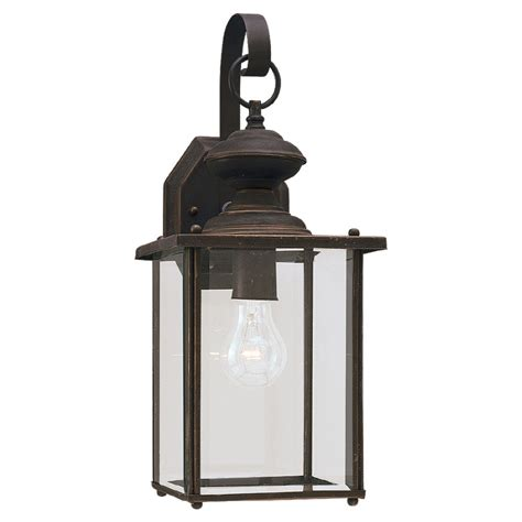 shop sea gull lighting 17 in h antique bronze outdoor wall