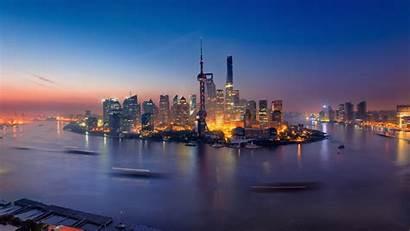 China Shanghai Wallpapers Buildings Night Laptop 1080p