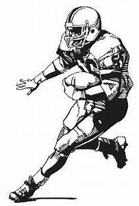 Football player football clipart black and white free ...