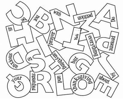 Philippians Order Alphabetical Coloring Children Alphabet Yahweh