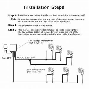 12w Led Landscape Lights Low Voltage  Ac  Dc 12v Or Dc 24v