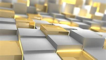 Gold Silver Cubes 3d Abstract Form Box