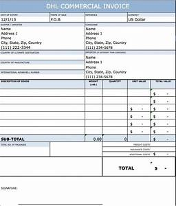 free dhl commercial invoice template excel pdf word With how to create a commercial invoice for international shipping