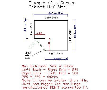 corner pantry cabinet dimensions corner pantry 2350x1000x1000 bifold door 5x shelf
