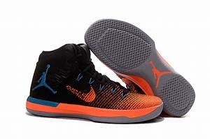 Cheap Air Jordan XXX1 Black Orange Blue Basketball Shoes ...