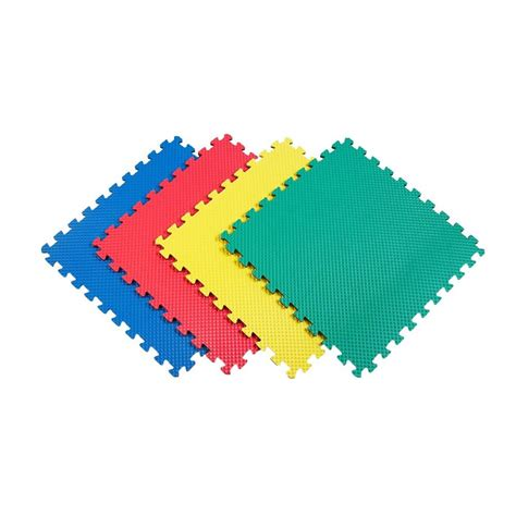 home depot flooring foam norsk reversible multi purpose 24 in x 24 in interlocking multi color foam flooring recyclamat