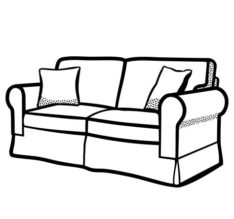 black and white settee sofa clipart sofa clipart sofa furniture clip photo