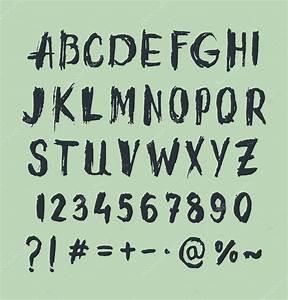 Grunge rasguño tipo de letra, tipografía vintage Vector de stock © Ruliz #59694721