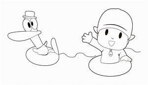 Pocoyo And Pato Printable Coloring Page