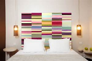 Tete De Lit Tissu : fabriquer une tete de lit en bois et tissu ~ Premium-room.com Idées de Décoration