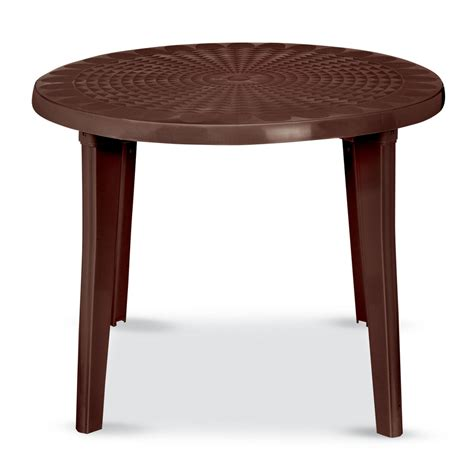 resin outdoor dining table shop us leisure 38 in x 38 in resin round patio dining