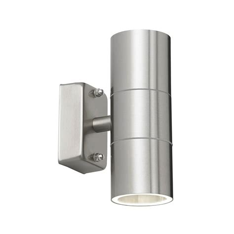 thlc outdoor led up and down wall light in stainless steel