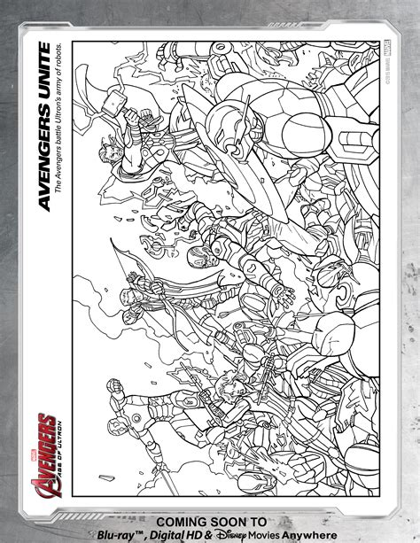 avengers unite coloring page disney movies